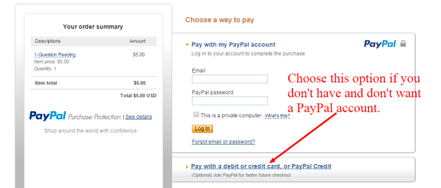 PayPal No Account