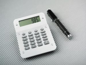 calculator and pen image