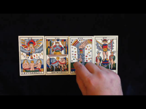 Screenshot from video tarot reading